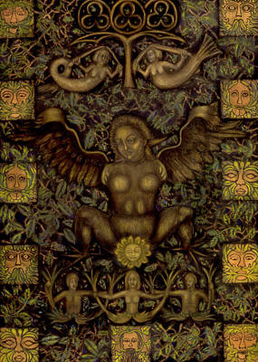 Feminist Mixed Media - Birth Of The Greenman by Diana Perfect