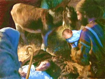 Manger Digital Art - Birth Of The Saviour by Ric Darrell