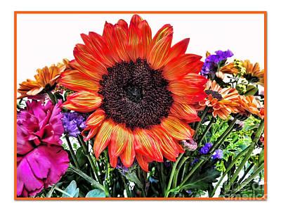Birthday Bouquet Print by Joan  Minchak