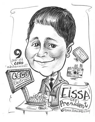 Lego Drawing - Birthday Boy by Karen Fulk