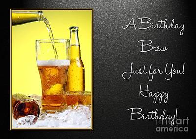 Digital Art - Birthday Brew by JH Designs