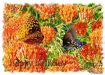 Digital Art - Birthday Butterflies by Lizi Beard-Ward