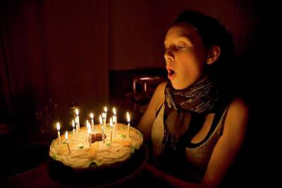 Gatineau Photograph - Birthday Cake by Peter Menzel/science Photo Library