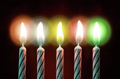 Bright Colours Photograph - Birthday Candles by Wladimir Bulgar