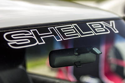 Birthday Car - Shelby Windshield Art Print
