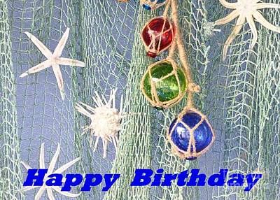 Photograph - Birthday Card With Marine Accents by Barbie Corbett-Newmin
