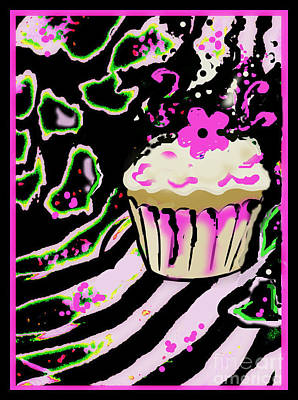 Mixed Media - Birthday Cupcake by Wendy Wiese
