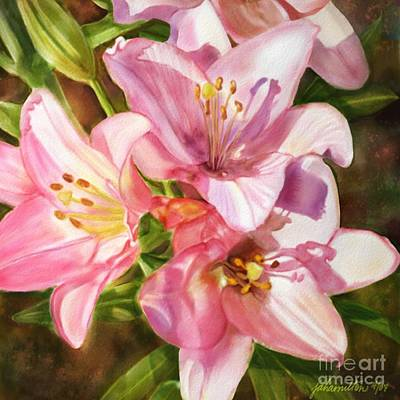 Painting - Birthday Flowers by Joan A Hamilton