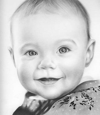 First-family Drawing - Birthday Girl by Natasha Denger