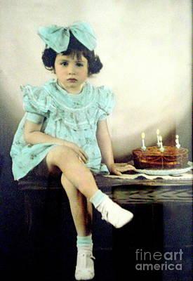 Photograph - Birthday Girl by Rachel Munoz Striggow