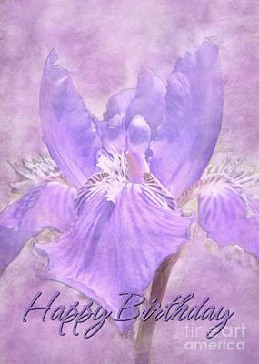 Digital Art - Birthday Iris by JH Designs