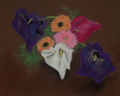 Pastel - Birthday Lilies by Jocelyn Paine