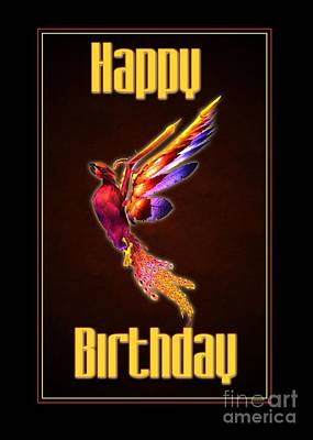 Digital Art - Birthday Phoenix by JH Designs