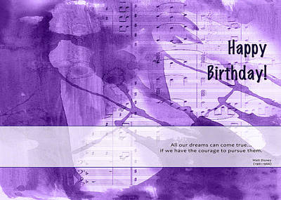 Birthday Quote 1 Art Print