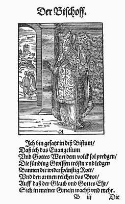 Staff Painting - Bishop, 1568 by Granger
