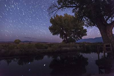 Startrails Photograph - Bishop Canal Star Trails by Cat Connor