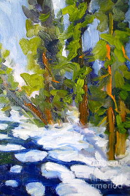 Painting - Bishop Creek Snow by Pat Crowther