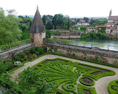 Bishop Garden In Albi France Art Print by Susan Alvaro