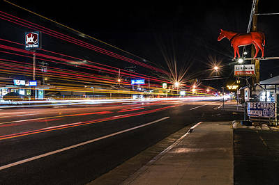 Photograph - Bishop Light Trails by Cat Connor