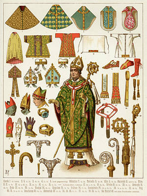 Bishops And Their Vestments - Mitres