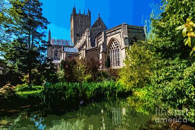 Bishops Garden Behind Cathedral Art Print