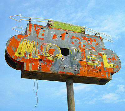 Photograph - Bishop's Motel by Larry Hunter