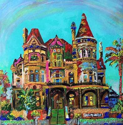 Galveston Painting - Bishop's Palace Galveston by Alberto Kurtyan