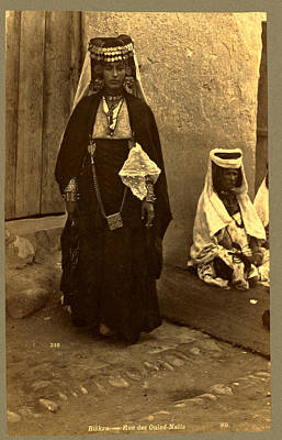 Berber Woman Photograph - Biskra, Rue Des Ouled Nai ¨ Ls, Neurdein Brothers 1860 by Litz Collection
