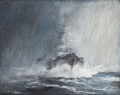 Mist Painting - Bismarck Through Curtains Of Rain by Vincent Alexander Booth