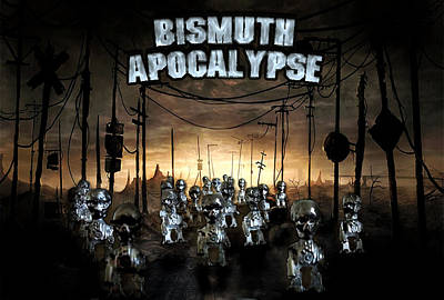 Art Print featuring the photograph Bismuth Apocalypse by Tarey Potter