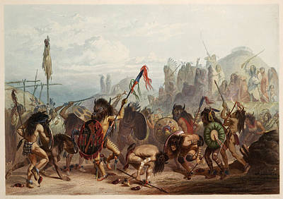 Painting - Bison Dance, Mandan Indians, 1839 by Science Source