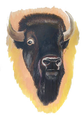 Painting - Bison by Emmanuel Baliyanga