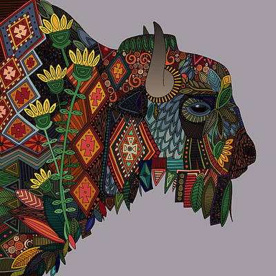 Buffalo Drawing - Bison Heather by Sharon Turner