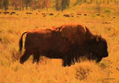 Bison Digital Art - Bison by Jo-Anne Gazo-McKim