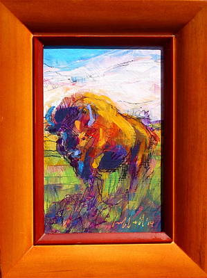 Painting - Bison by Les Leffingwell