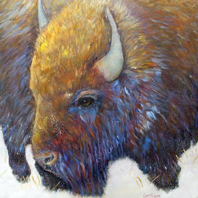 Wildlife Painting - Bison by Loretta Luglio
