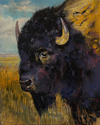 Indian Art Painting - Bison by Michael Creese
