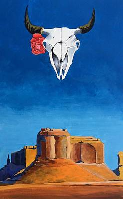 Bison With A Rose Original by Sean Begaye