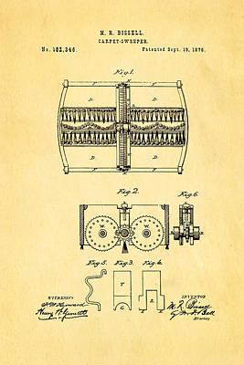 Bissell Carpet Sweeper Patent Art 1876 Art Print