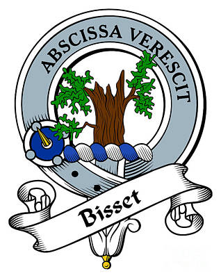 Bisset Clan Badge Art Print by Heraldry