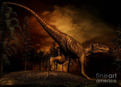 Anger Digital Art - Bistahieversor Was A Tyrannosaurid by Philip Brownlow