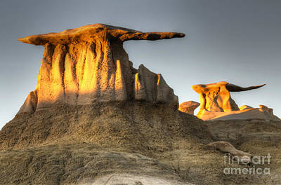 Photograph - Bisti/de-na-zin Wilderness Golden Wings by Bob Christopher