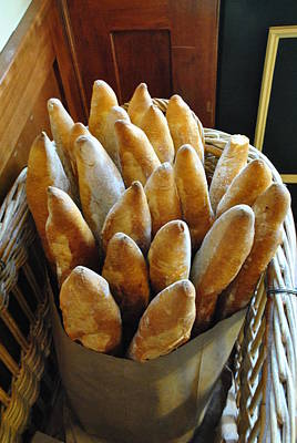 Bistro And Bakery Loaves Of Fresh Bread Original by ARTography by Pamela Smale Williams