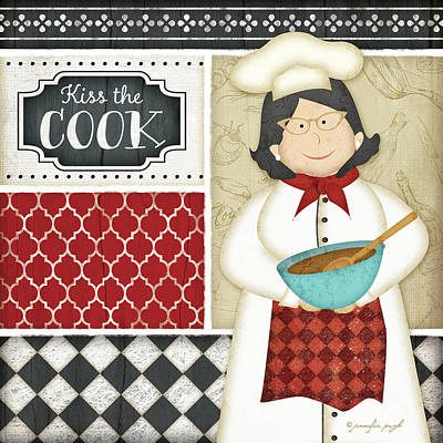 Bistro Chef 2 Art Print by Jennifer Pugh
