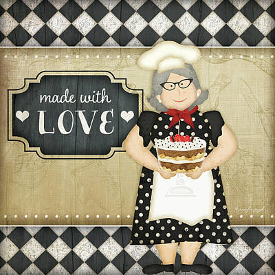 Bistro Chef Love Art Print by Jennifer Pugh