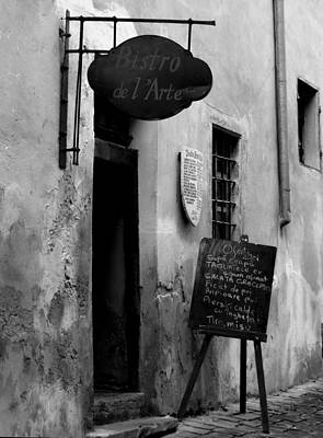 Photograph - Bistro De L Arte Monochrome by Tamyra Crossley