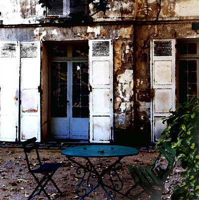 Art Print featuring the photograph Bistro Table In Montmartre by Jacqueline M Lewis