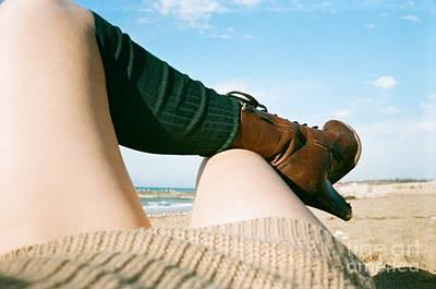 Lana Del Rey Photograph - Bitch On The Beach by Krolikowski Art