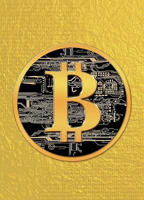 Virtual Photograph - Bitcoin Logo by Victor Habbick Visions
