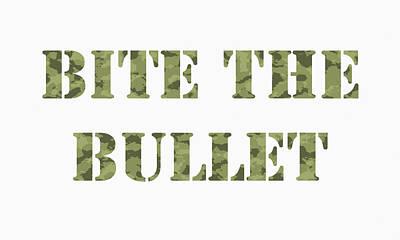 Bite The Bullet Art Print by Steve K